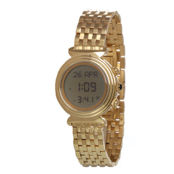 AlFajr Islamic Ladies Round Watch Golden band - WF-14S