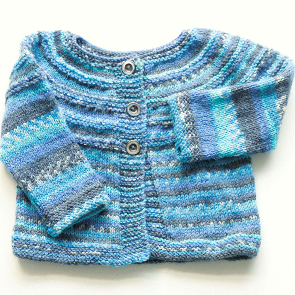 faa77bebcfb3 Size 00 Baby Boys Hand Knitted Baby Cardigan - Classic Blue – Annie ...