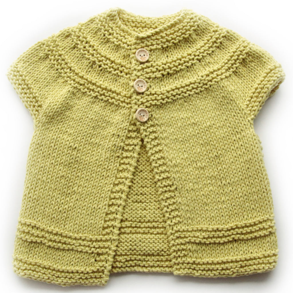 208c4736d467 Size 00 Baby Girls Knitted Cap Sleeve Cardigan - Pistachio – Annie ...