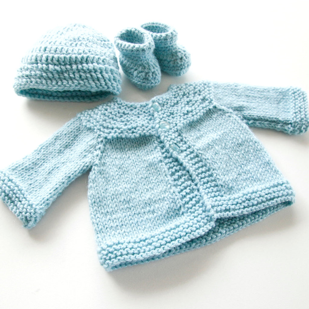Size 000 Baby Boys Crocheted Layette Powder Blue Annie Bellas Gifts