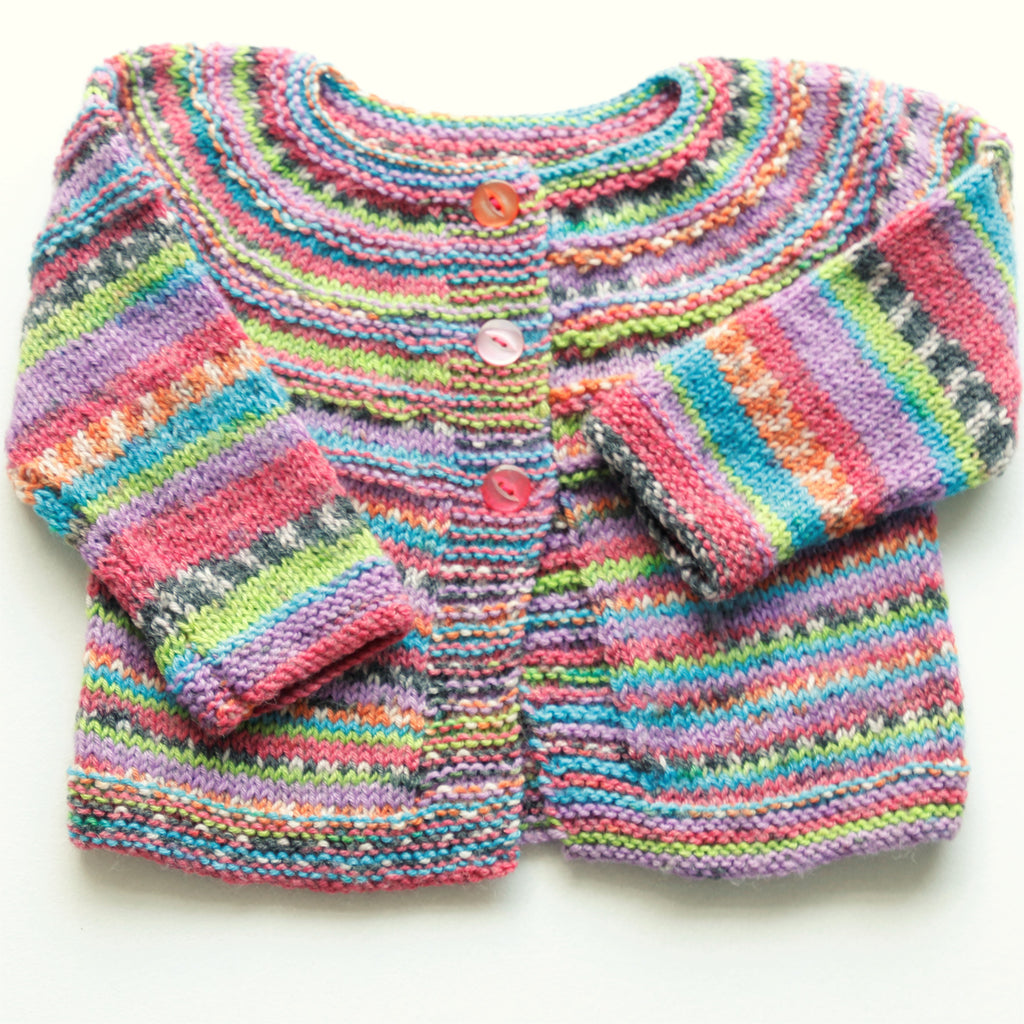 b0dc59c67 Size 00 Baby Girls Hand Knitted Baby Cardigan and Matching Beanie - Lollipop
