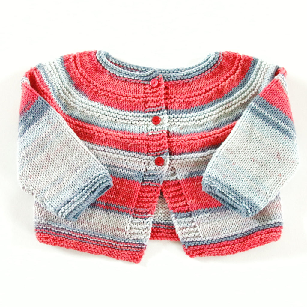 636ec20d7 Size 00 Baby Girls Hand Knitted Baby Cardigan - Jeans – Annie Bella's Gifts