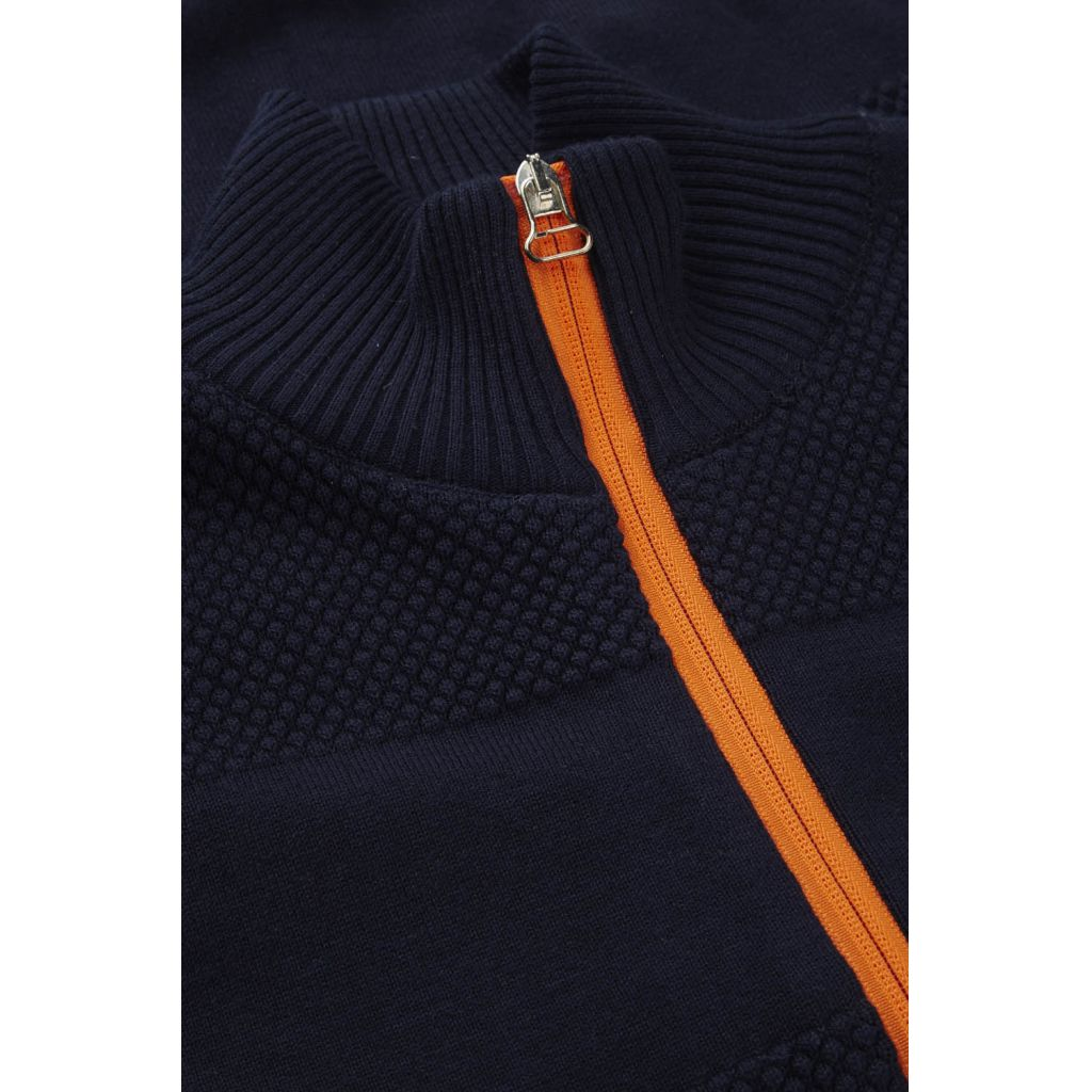 Jacob Zip - Navy / Orange