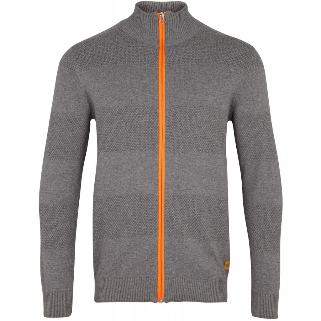 Kronstadt Jacob Zip Knits Charcoal mel / Orange