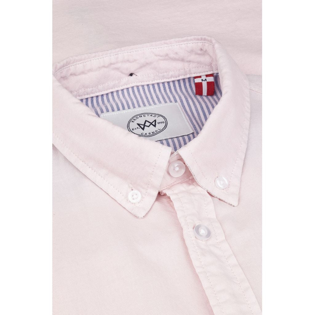 Kronstadt Johan Oxford Dyed S/S Shirts S/S Pink