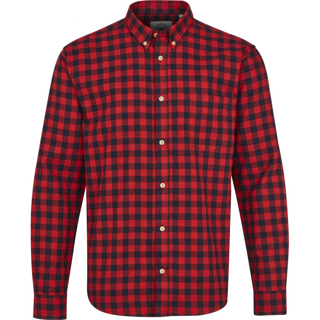 Kronstadt Johan Check Gr.18 Shirts L/S Red
