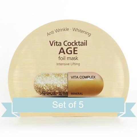Banobagi Vita Cocktail Age Foil Mask (Set of 5)
