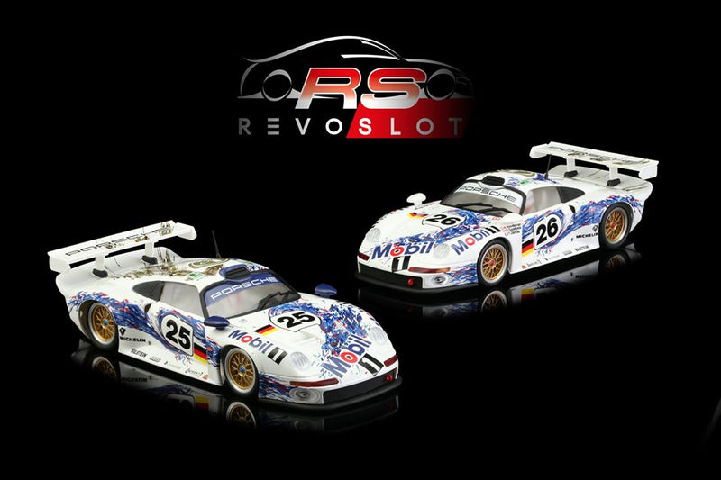 RevoSlot RS0064 - Porsche 911 GT1 Mobil 1 Twin Car Pack