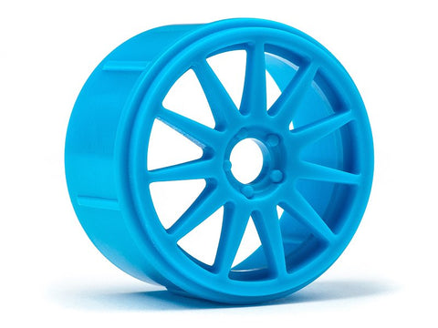 HPI #111837 - Speedline Corse Turini Wheel, Cyan, for Micro RS4 (4x)