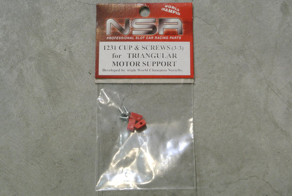 NSR-1231 Cup & screws set (for NSR triang. motor support)