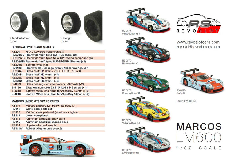 RevoSlot RS0070 - Marcos LM600 GT2
