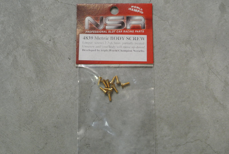 NSR-4839 Metric body screws set partially threaded(2.2x6.5)mm