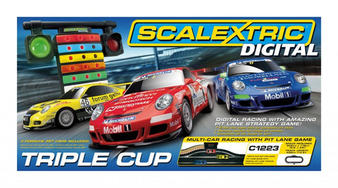 Scalextric C1223 - Digital Triple Cup Digital Race Set