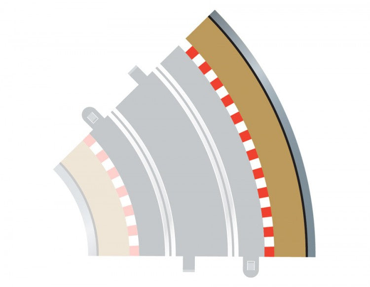 Scalextric C8228 - Radius 2 Outer Borders, 45 degree (4x)