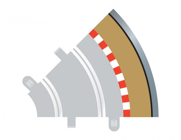 Scalextric C8240 - Radius 1 Outer Borders, 45 Degree (4x)