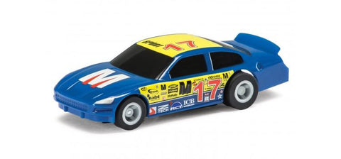 Micro Scalextric G2157 - US Stock Car Blue #17 (1/64th)