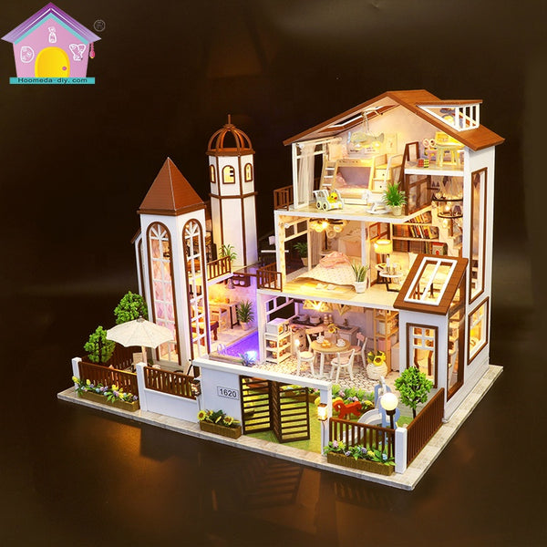 "L901Z - ""Love You All The Way"" 3-Storey Mansion (w/acrylic dust cover, tool set, musical box)"