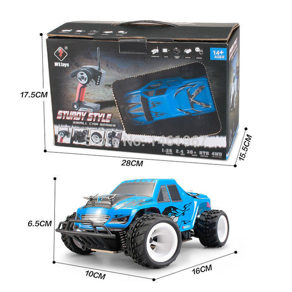 WLToys P929 - 1/28th scale Digital Proportional 4WD RC Monster Truck