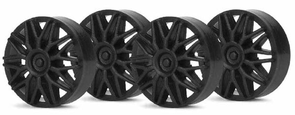 Slot.It PA03b - BBS Wheel Insert, Black, for PA17/24 (4x)