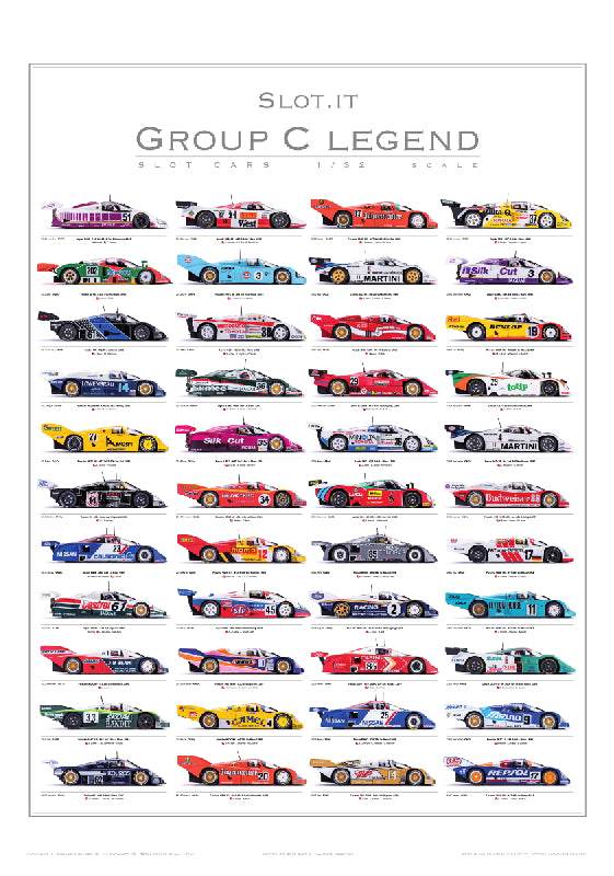 Slot.It PGRC-2 - Poster of Group C Car Legends by Slot.It (2011-2017)