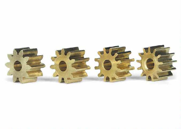 Slot.It PSMX - Brass Pinions set, 10/11/12/13-teeth, Ø6.5mm (1 each)