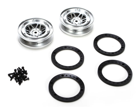 Vaterra VTR43000 - Front/Rear 1.9 Beadlock Wheels with Rings, for Twin Hammers (2x)