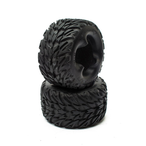 Vaterra VTR43017 - Barrage Tire w/Foam, Front/Rear for Hälix, (2x)