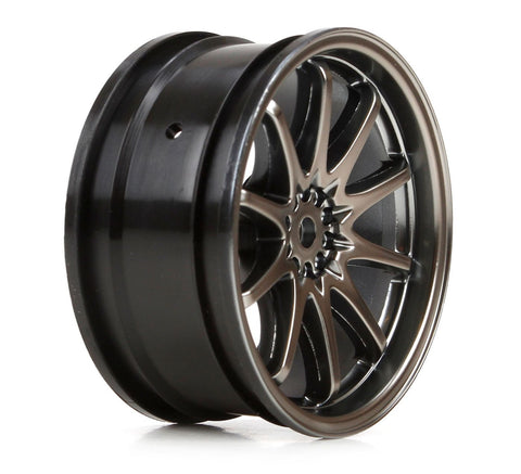 Vaterra VTR43035 - Front 54x26mm Volk Racing CE28N Wheels, Gun Metal
