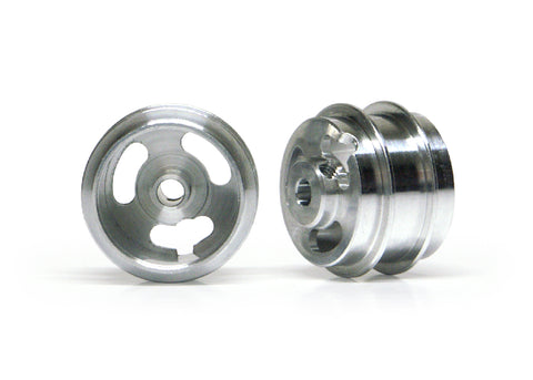 Slot.It W15810215AF - (Ø15.8x10x1.5)mm Aluminium Wheels, Double Shoulder, M2 Grub (2x)