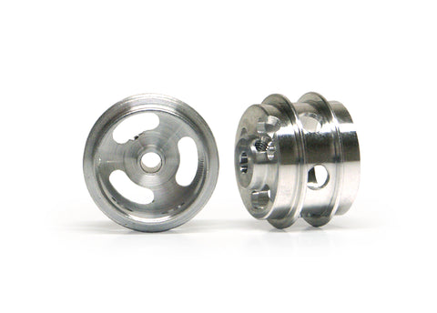 Slot.It W15810215AH - (Ø15.8x10x1.5)mm Aluminium Wheels, Double Shoulder, Holed, M2 Grub (2x)
