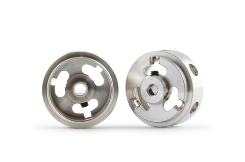 Slot.It W16908215M - Magnesium (ø16.9x8.2x1.5)mm Hollow Wheels, M2 Grub, 0.78g (2x)