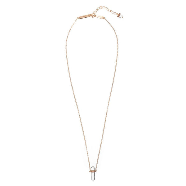 Lunar Quartz Necklace / Rose Gold