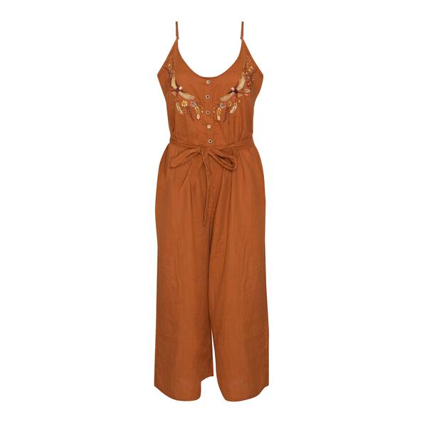 Wild Wonder Embroided Jumpsuit