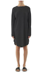 Remi Waffle Dress / Washed Black