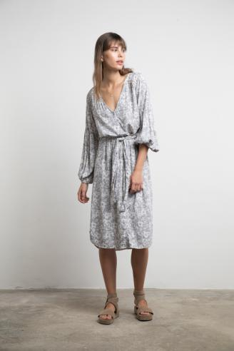 Riviera Dress / Grey Aster