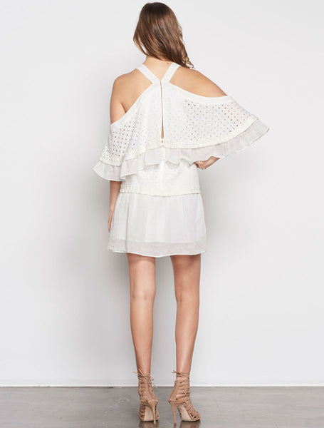Stevie May Inhale Broidery Mini Dress - White