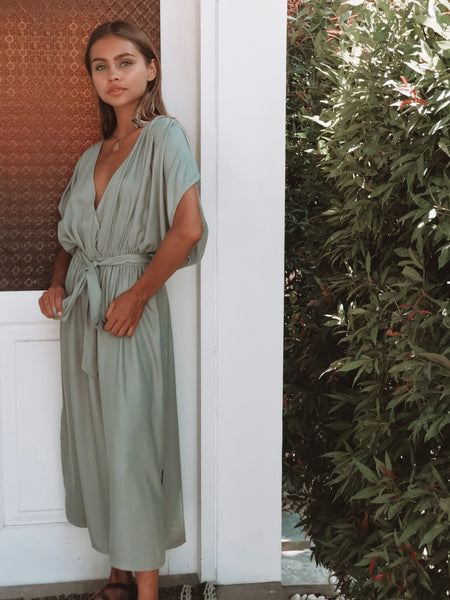 Sorrento Midi Dress / Tea