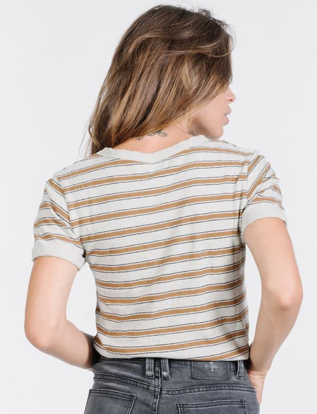 Commune Stripe Tee / Cement
