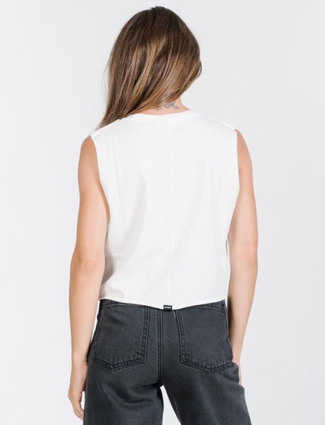 Palmed Thrills Crop Muscle / White
