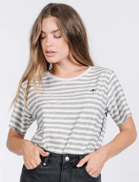Cauzed Stripe Tee / Tan