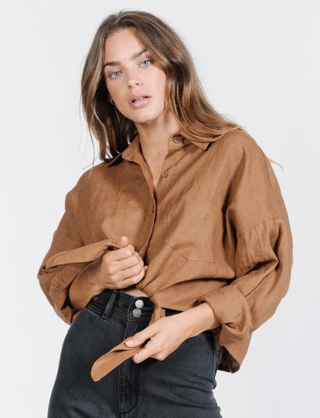 Olivia Hemp Shirt / Bronze
