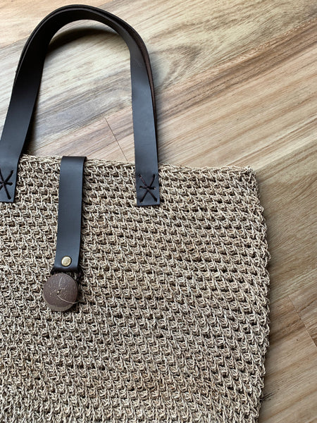 Nias Rattan Large Beach Bag