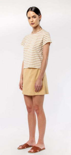 Piper linen Skirt / Washed Mustard