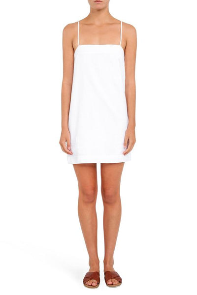 Piper Linen Dress / White