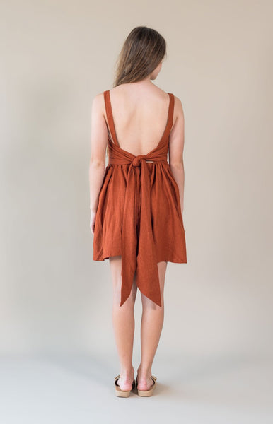 Maisie Dress / Rust