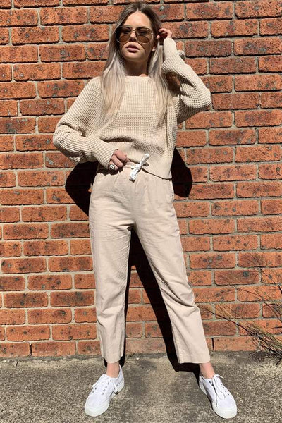 Nude Classic Linen Pant / Sand