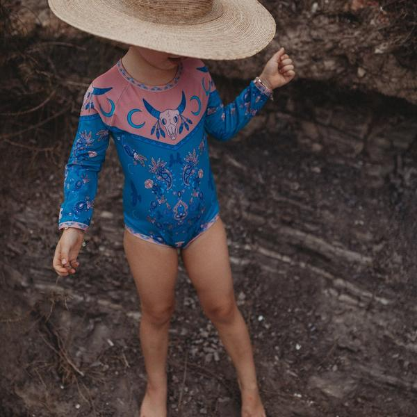 Dune Dweller Rash Suit / Aquamarine