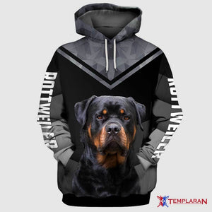 Lover not a figter ROTTWEILER Dog 3D Hoodie Full Printing