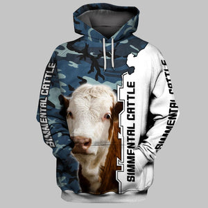 SIMMENTAL CATTLE 3D Full Printing