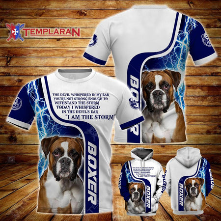 BOXER DOG Limited edition 3D Full Printing